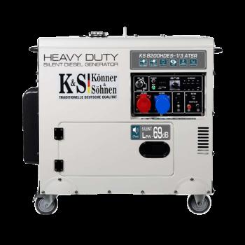 Дизельный генератор KÖNNER&SÖHNEN KS 8200 HDES-1/3 ATSR АКЦИЯ: 20л топлива+ масло+выхлопная труба в подарок